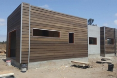 Siding fibrocemento color Roble
