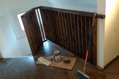 Baranda interior de madera color Roble